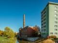 Fabrik, Fluss Wohnhaus