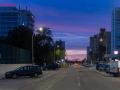 Gandia Straßenzug am Abend