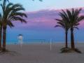 Gandia Strand am Abend