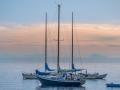 Boote und Festland