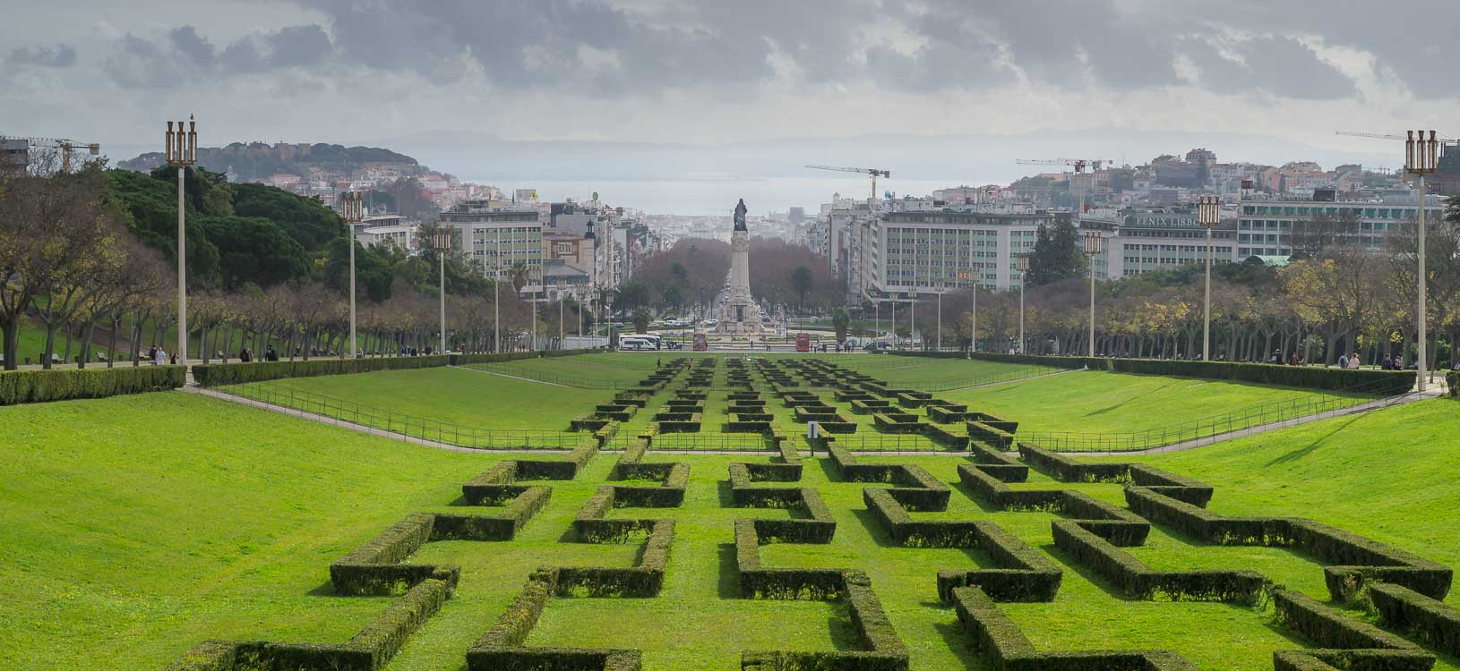 Parque und Marques de Pombal Lissabon