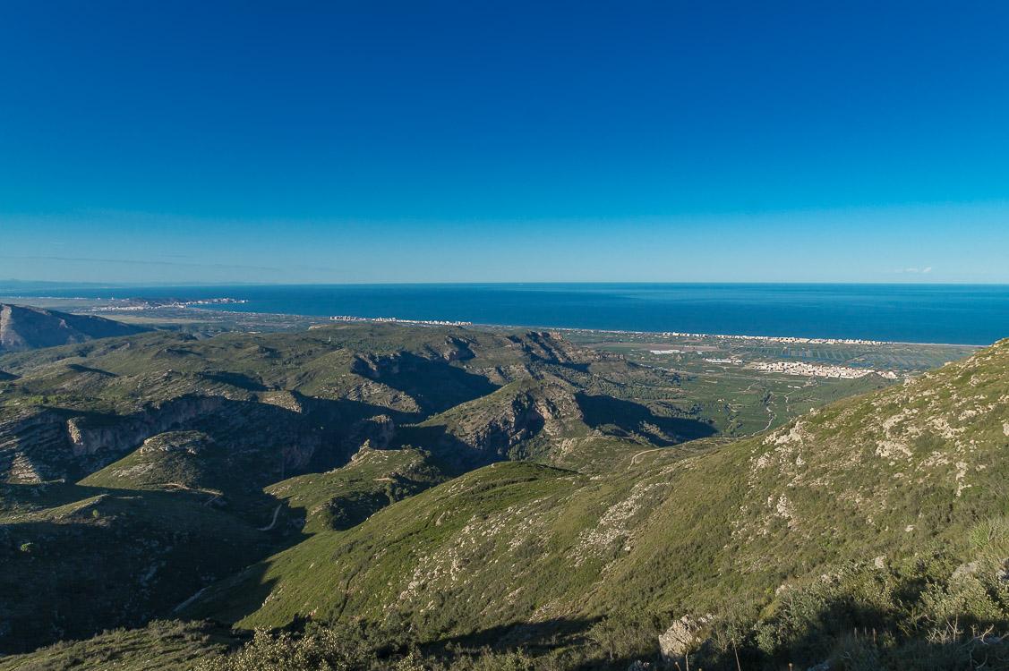Blick auf Gandia und das Meer