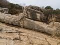 Kouros von Apollonas seite