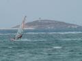 Surfer und Tor