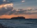 Tor von Naxos im Abendhimmel