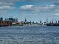 Hamburg Skyline von Elbe