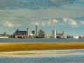 Liverpool Skyline von Mersey aus