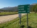 Ruta Nacional 3 Entfernungsanzeige