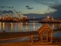 Hafenanlage und Wartehäuschen in Ushuaia